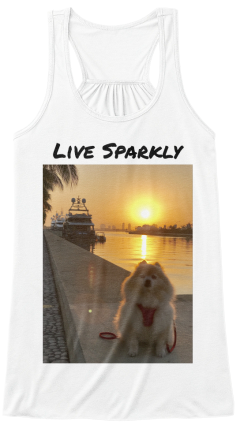 Live Sparkly White Women's Tank Top Front