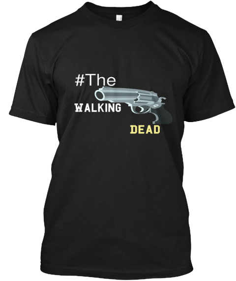 #The Walking Dead Black T-Shirt Front