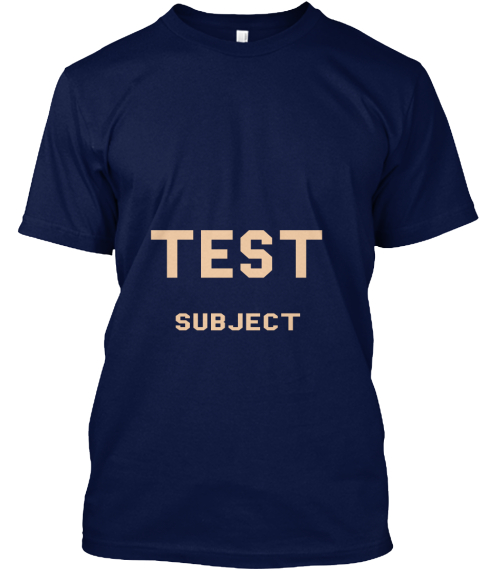 Test Subject Navy T-Shirt Front