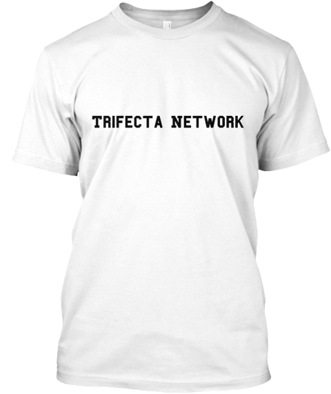 Trifecta Network White T-Shirt Front