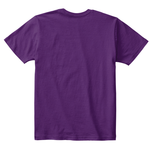 I Love Abersoch... I Do! I Do! Purple T-Shirt Back