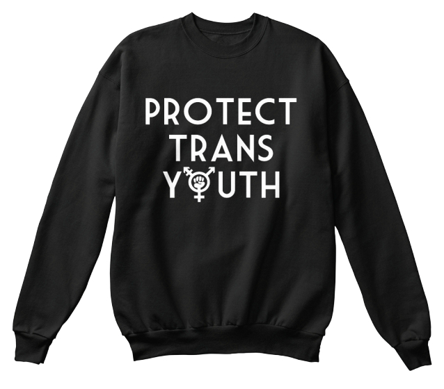 Protect Trans Youth Sweatshirt Front