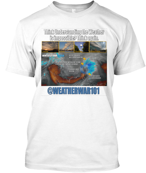 Winter Storm Stella (White) White T-Shirt Front