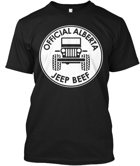 Official Alberta Jeep Beef Black T-Shirt Front