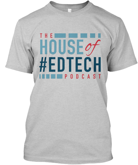 House Of #Ed Tech Tee Light Steel T-Shirt Front