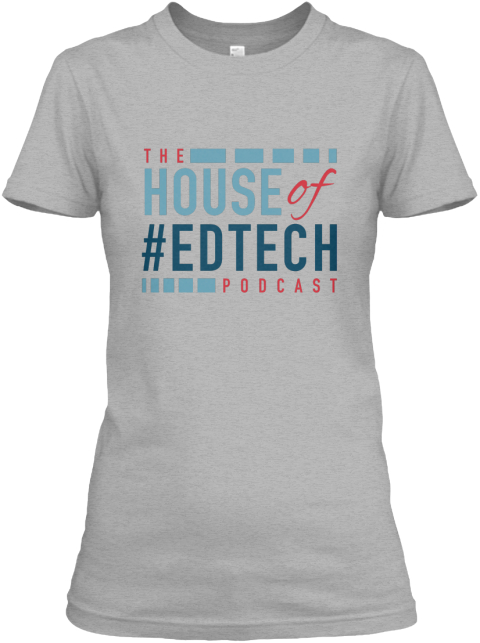 House Of #Ed Tech Ladies Tee Sport Grey T-Shirt pour Femme Front