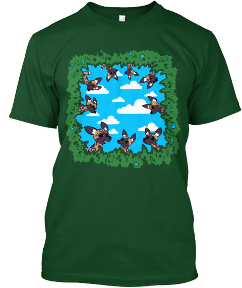 Funky Forest Forest Green  T-Shirt Front