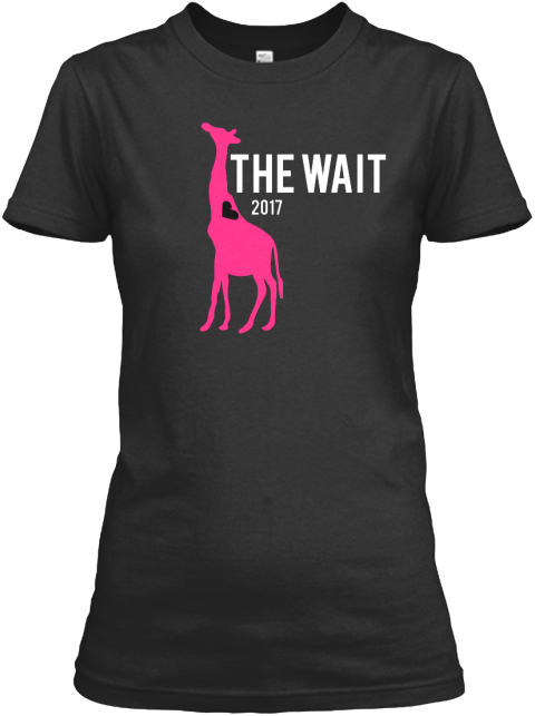 The Wait 2017 Black T-Shirt Front