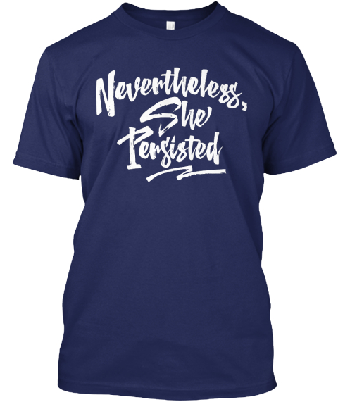 Nevertheless, She Persisted Navy T-Shirt Front