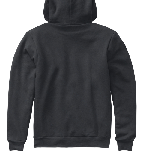 Premium Black Hoodie  Dark Heather Grey Sweatshirt Back