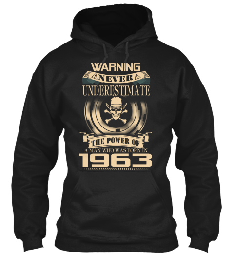 1963 Black Sweatshirt Front