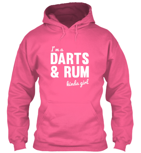 Iam A Dartus And Rum Kinda Girl Candyfloss Pink Maglietta Front