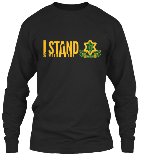 I Stand With The  Black Long Sleeve T-Shirt Front