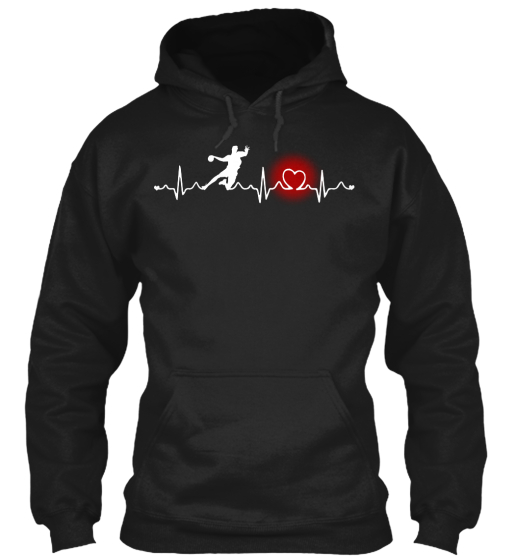 Hand Ball Heart Beat Full Color Sweatshirt Front