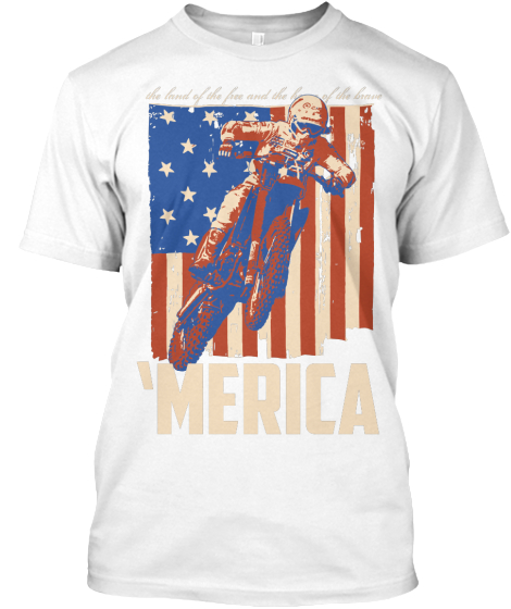 Merica The Land Of The Free And House Of The Brave  T-Shirt Front