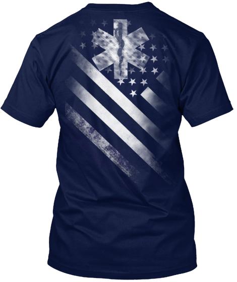 Star Of Life Flag T-Shirt Back