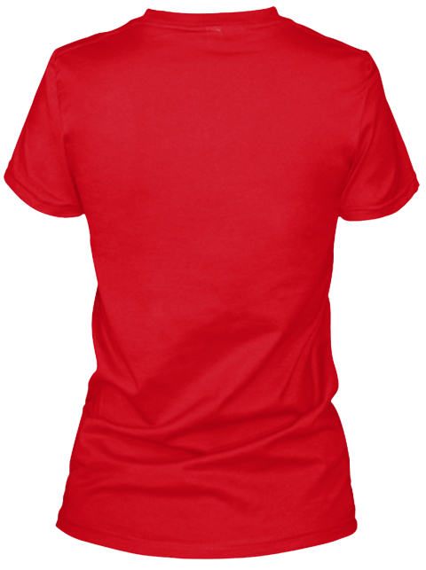 Mud Or Makeup? Red Women's T-Shirt Back