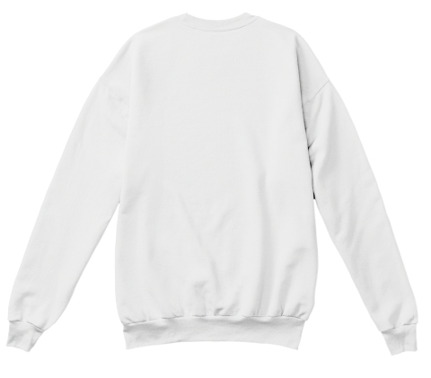 Av Sweater Without Text  White  Sweatshirt Back
