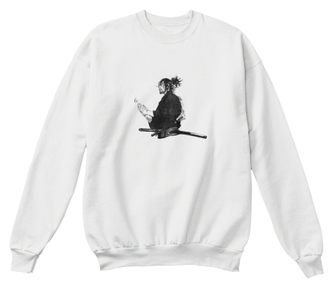 Av Sweater Without Text  White  Sweatshirt Front