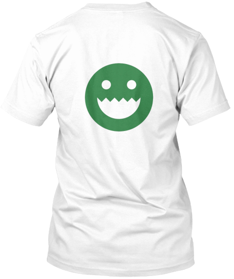 Polycount Greentooth Back White T-Shirt Back