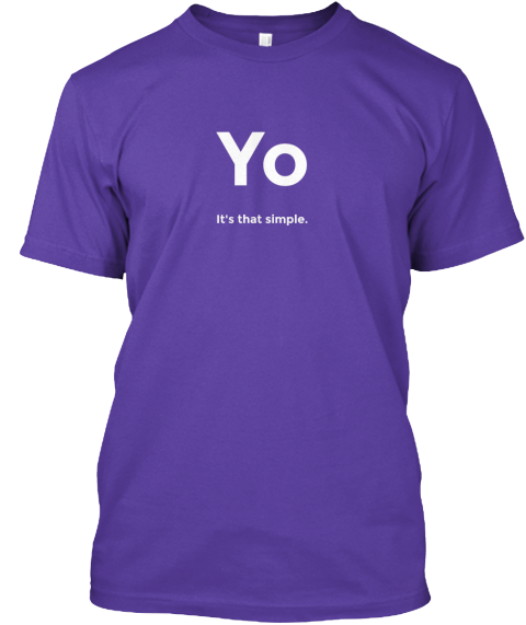 Yo For A Cause Purple T-Shirt Front