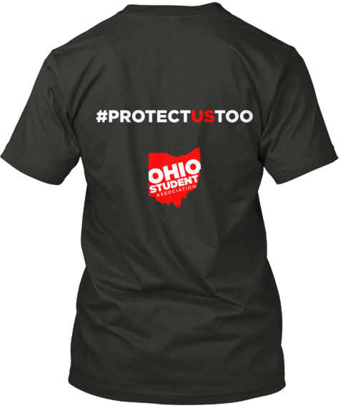 Protect Us Too Black T-Shirt Back
