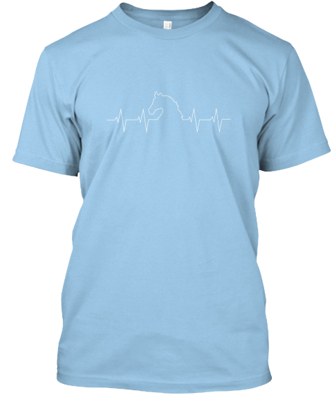 Help Horses In Crisis! Light Blue T-Shirt Front