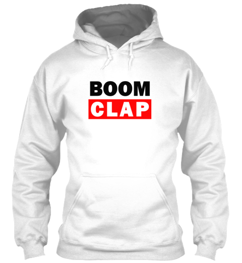 Boom Clap [Limited Edition] White T-Shirt Front