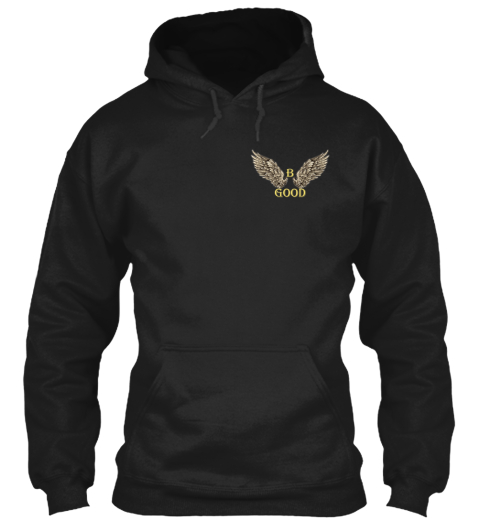 B Good Angel Wing For 5 Days Black Sweatshirt Front