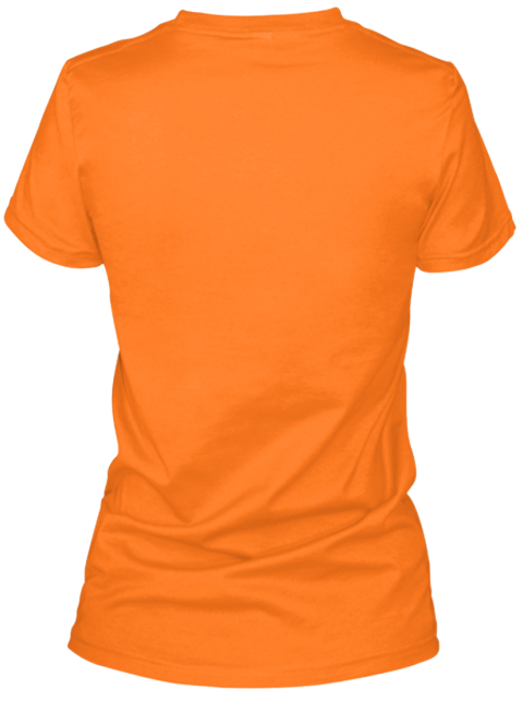 Limited Edition   Halloween Orange T-Shirt Back
