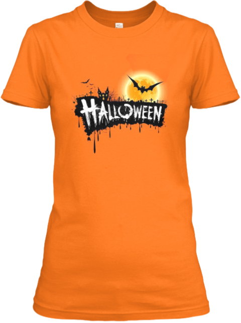 Limited Edition   Halloween Orange T-Shirt Front