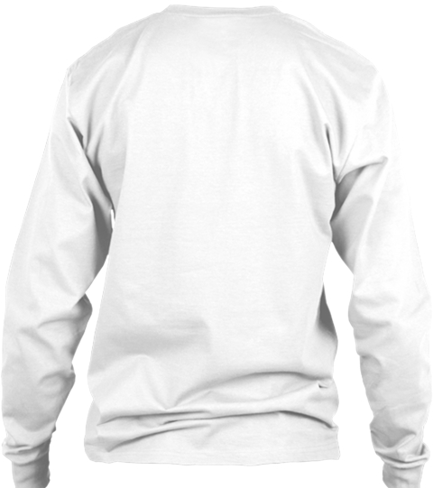 2 Solid 2 Fold White Long Sleeve T-Shirt Back