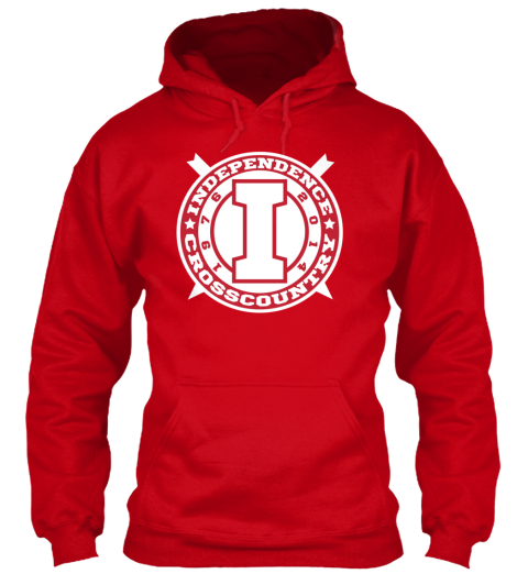 Independence Cross Country 2014 Red Sweatshirt Front