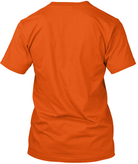 Zombie Brains!! Orange T-Shirt Back