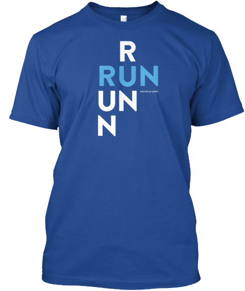 R Run Un N Deep Royal T-Shirt Front