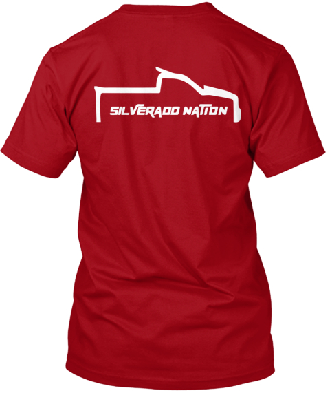 Limited Edition Silverado Nation  Tees Deep Red T-Shirt Back