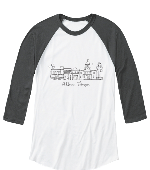 Nmp Athens Skyline Apparel  White/Asphalt   Long Sleeve T-Shirt Front