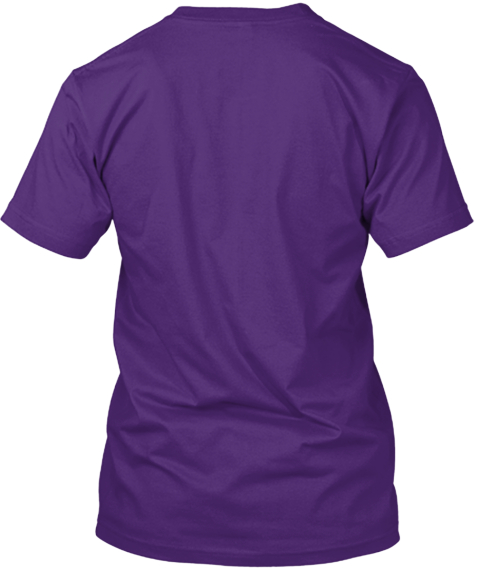 Hello My Name Is Raffey Purple T-Shirt Back