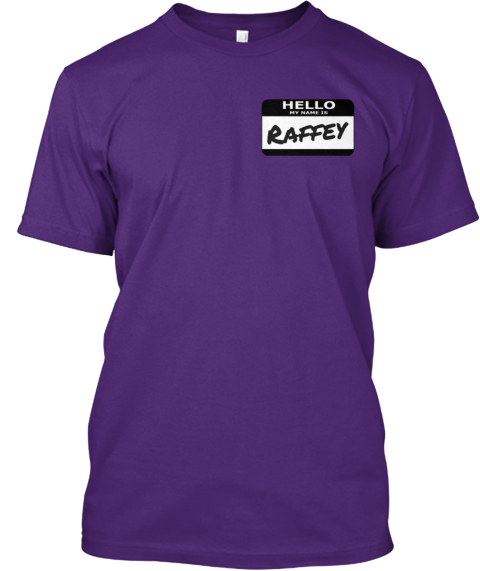 Raffey Purple T-Shirt Front