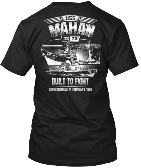 Limited Edition Uss Mahan Shirts! Black T-Shirt Back