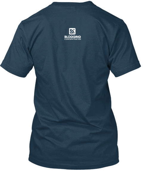 November Blogging Shirt Of The Month Navy T-Shirt Back