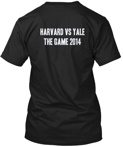 Harvard Vs Yale The Game 2014 Black T-Shirt Back