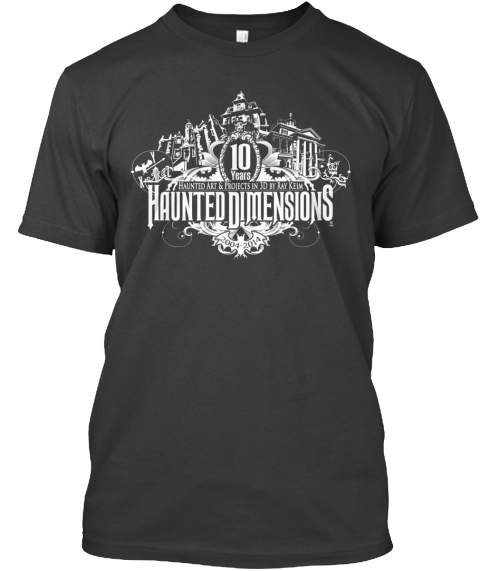 Haunted Dimensions 10th Tee Coal T-Shirt Front