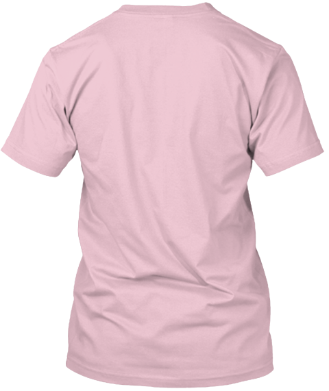 Cute Enough To Stop Your Heart. Pale Pink T-Shirt Back