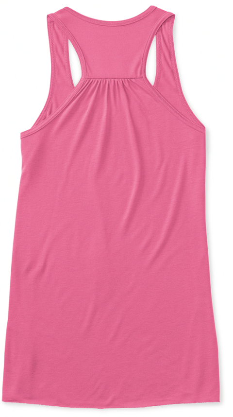 Festival Hair Don't Care Neon Pink Tank Top Back