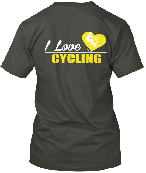 Love Cycling  ­‐ Not Sold In Stores Smoke Gray T-Shirt Back