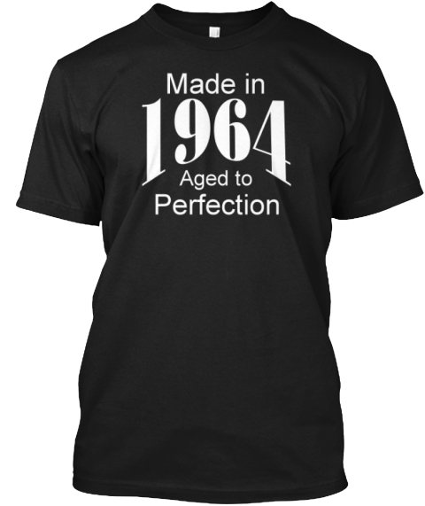 Limited Edition 1964 T Shirt. Black T-Shirt Front