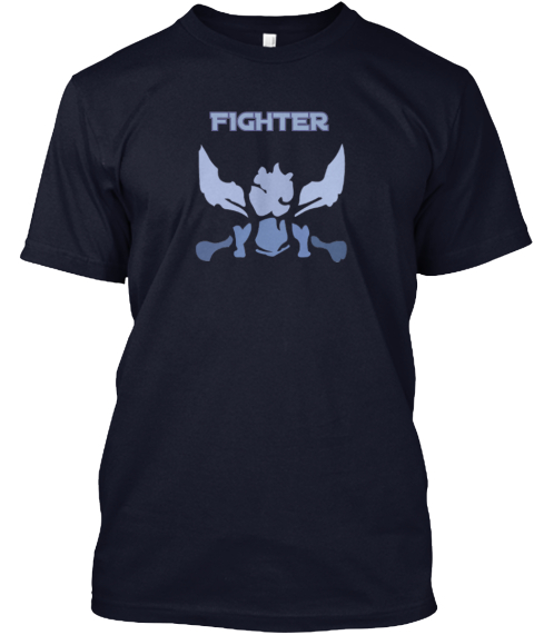 Fighter Navy T-Shirt Front