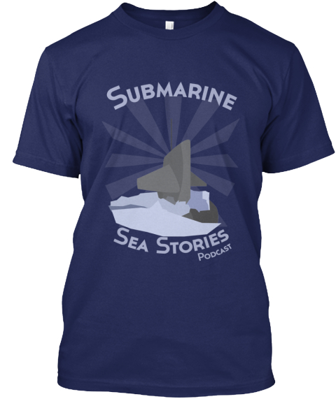 Submarine Sea Stories Podcast Tee Shirt! Navy T-Shirt Front