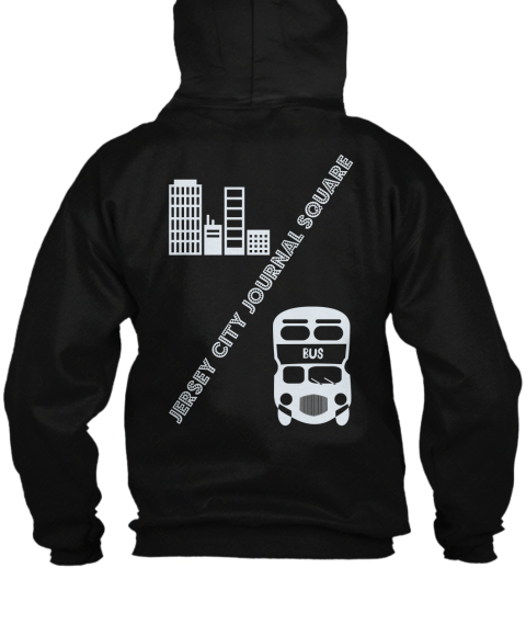 Jersey City Journal Square Black Sweatshirt Back